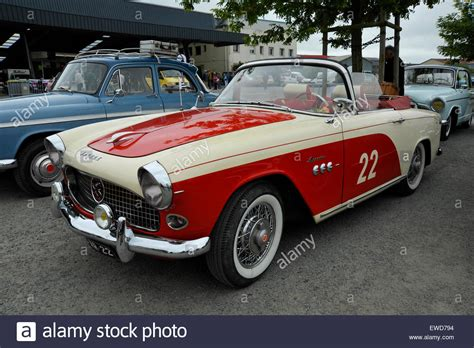french sports cars classic french simca aronde convertible sports car stock