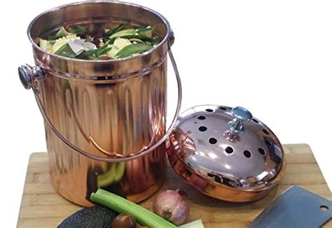 diy kitchen compost bin scrap container stainless with kitchen compost pail bin for countertop leakproof food