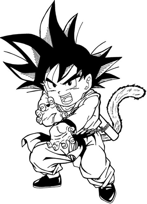 imagenes en blanco y negro de dragon ball dragon ball para colorear