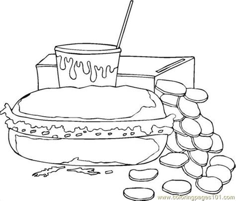 coloring pages bean 4 food fruits gt breakfast free