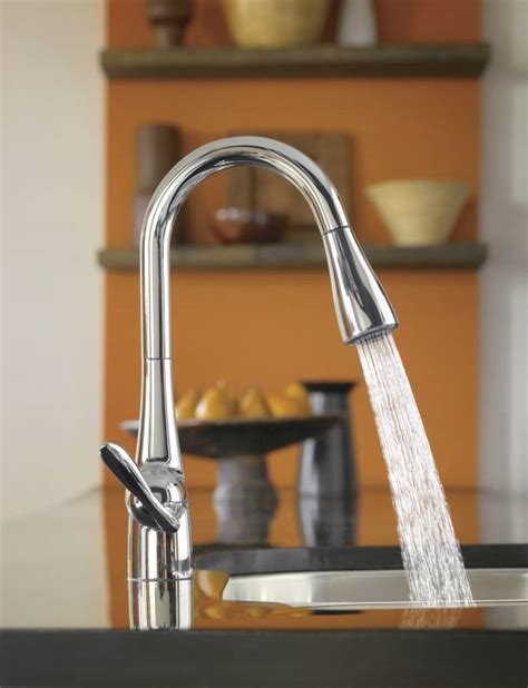 arbor kitchen faucet moen 7594c arbor single handle high arc pulldown kitchen faucet chrome faucetdepot