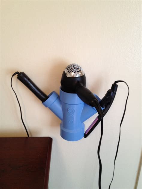 Diy Hair Dryer And Flat Iron Holder 25 best images about pvc pipe ideas on toys