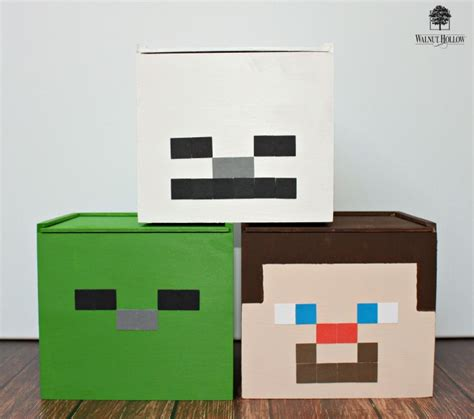 Dollar Store Home Decor by Minecraft Inspired Storage Cubes Morena S Corner