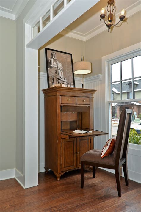 room and board desk desk with hutch living room traditional with abattant bead board beige