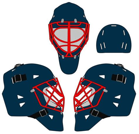 goalie mask template by kaito42 on deviantart