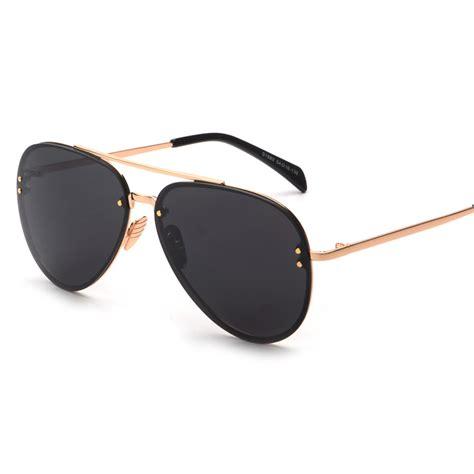 cool glasses rimless goggle big cool glasses eyewear 2016 new vintage retro fashion sunglasses women men