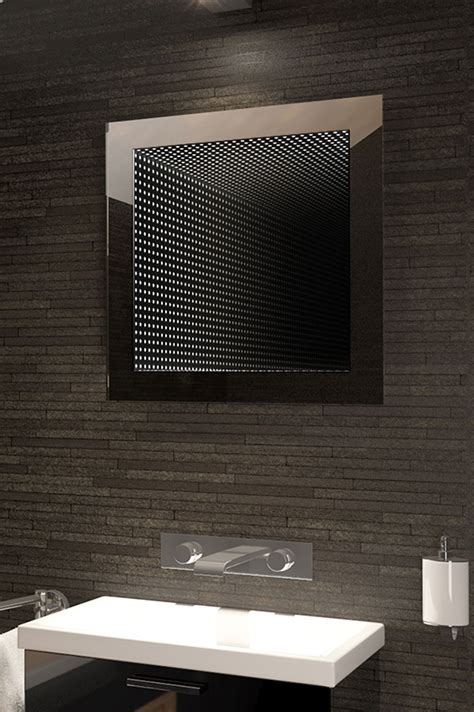 perfect reflection rgb led bathroom infinity mirror