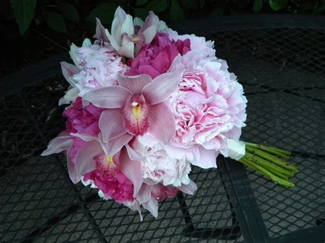 peonies and orchids bridal bouquets peony and orchids jan 2014 wedding