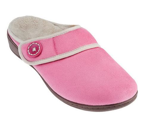 orthaheel house slippers vionic orthotic adj strap slippers laura page 1 qvc com