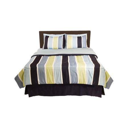 walmart bed in a bag twin bed in a bag blue stripe walmart ca