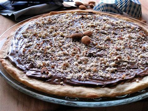 cara membuat pizza nutella cheesecake al cioccolato bianco con crosta al caramello