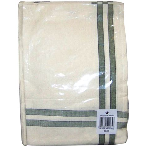 dunroven house dunroven house cream towel with sage and black stripes 20 x 29 inches 113741