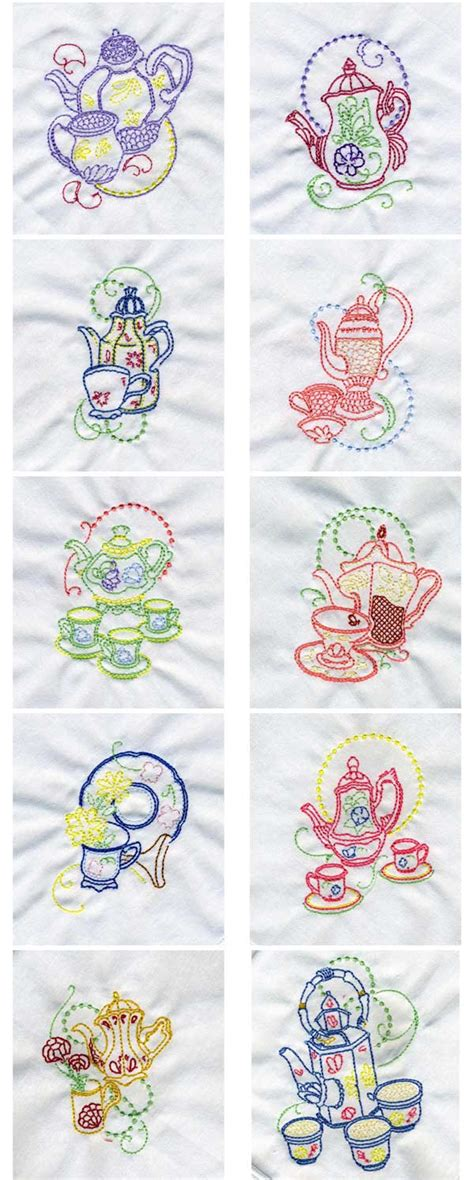 Oregon Patchworks Embroidery - teapot machine embroidery designs 171 embroidery origami