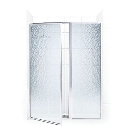Shower Door And Panel Coastal Shower Doors Legend Series 41 In X 69 In Framed Hinge Swing Shower Door With Inline