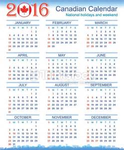 Calendar Printable 2016 Canada 2016 Calendar Canada Yearly Calendar Printable