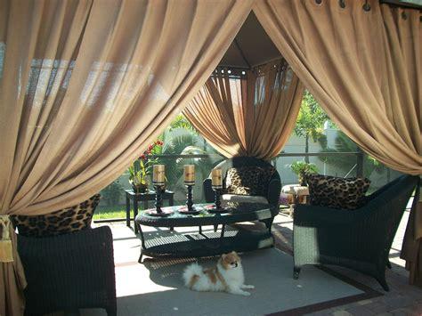 gazebo drapes outdoor gazebo patio drapes toffee quot sheer quot 84