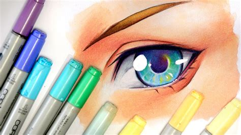 Drawing Markers by Drawing An Eye Copic Markers And Pencils