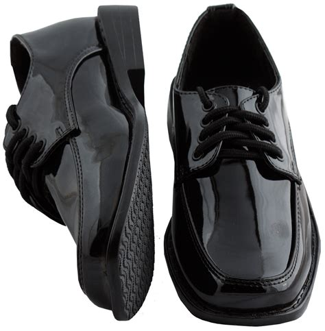 boys black shoes formal dress shoes tuxedo shoes tiny t