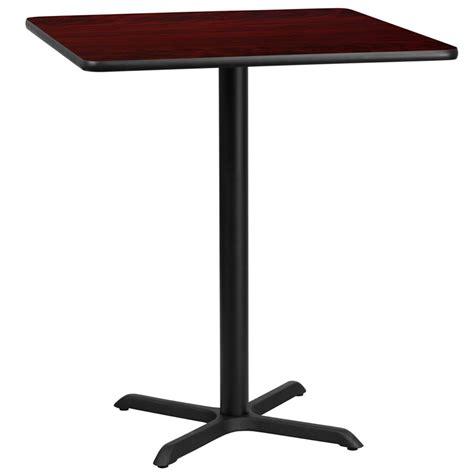 bar top 30 36 square mahogany laminate table top with 30 x 30 bar height base
