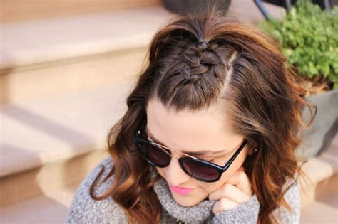 simple half up party lob the prettiest half up half down 25 best ideas about half french braids on pinterest