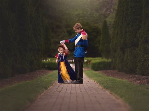 prince charming themed photo shoot captures bond between