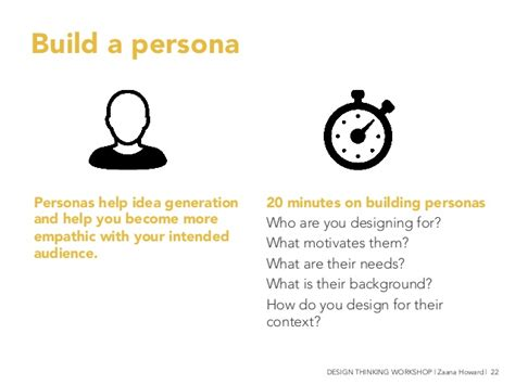 design thinking persona build a persona 20 minutes