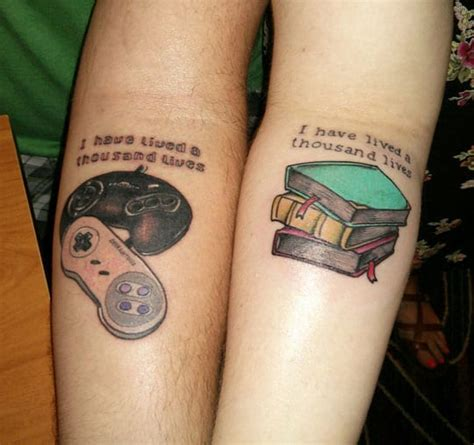 small his and her tattoos his and quote creativefan
