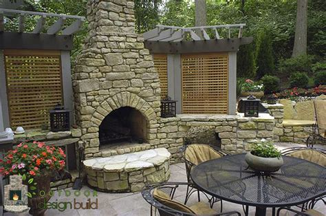fireplace backyard cincinnati outdoor fireplace