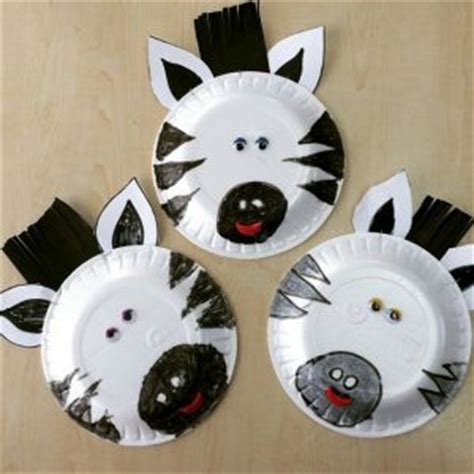 Zebra Paper Plate Craft - zebra craft idea for crafts and worksheets for
