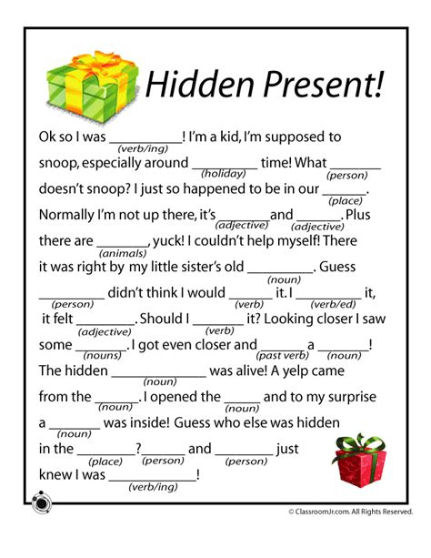 printable christmas mad libs christmas mad libs hidden present woo jr kids
