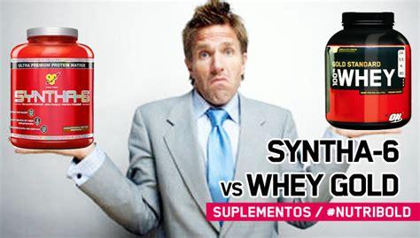 cara a cara 100 whey gold standard vs syntha 6 nutribold
