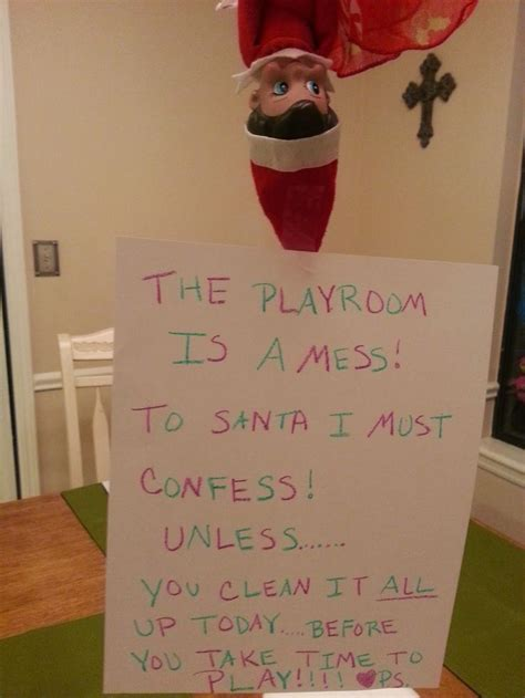 elf on the shelf clean your room printable fun with elf on the shelf elf on the shelf reminder to