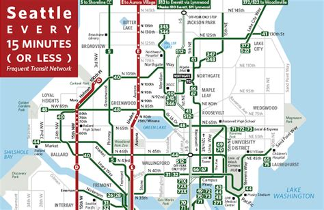 seattle map transportation seattle every 15 minutes or better