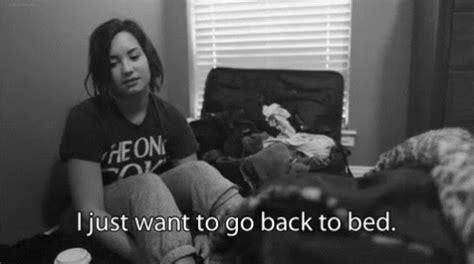 Futon Gif by Demi Lovato Struggle Gif Demilovato Bed Sleep Gifs Say