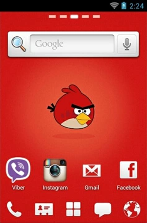 themes for android red angry birds red android theme for go launcher