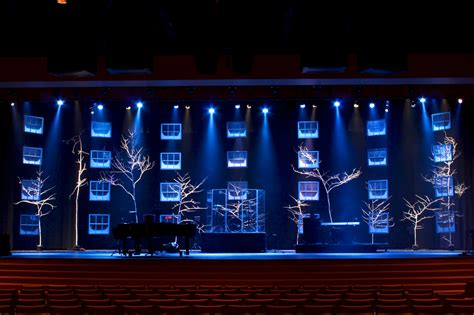 set design ideas frosty windows church stage design ideas