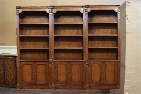 Traditional Walnut Bunching Bookcase A High End Reproduction Traditional Bookshelves