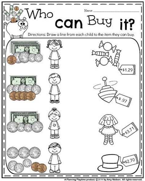 best sheets for the money 25 best ideas about money worksheets on pinterest math for 1st graders counting money