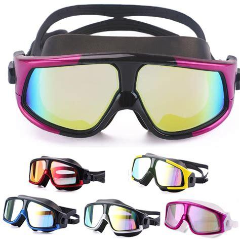 Kacamata Renang Big Frame kacamata renang diving snorkling large frame anti fog uv
