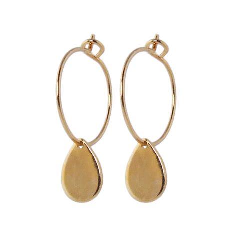 hoop earrings with small gold hoop earrings with teardrops by aliquo