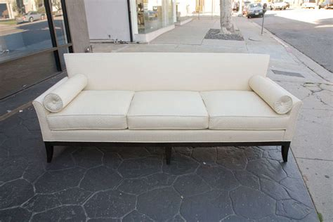 imported sofa mid century sofa in imported quilted cream silk at 1stdibs