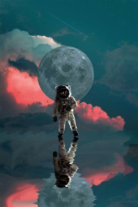 apollo  astronaut  love nasa moon hd poster space art