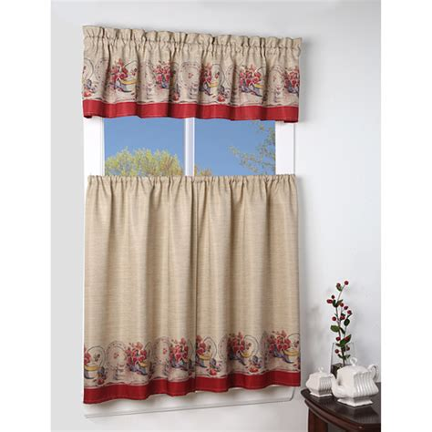 Walmart Curtains Kitchen Kitchen Curtains At Walmart Mainstays Vineyard 3 Kitchen Curtain Set Walmart Barcode Kitchen