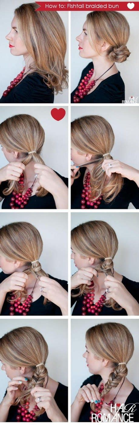 hairstyle ideas and how to do them 25 best ideas about fishtail braid buns on pinterest