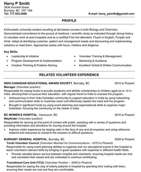 biology resume template biology and chemistry student resume sle resume