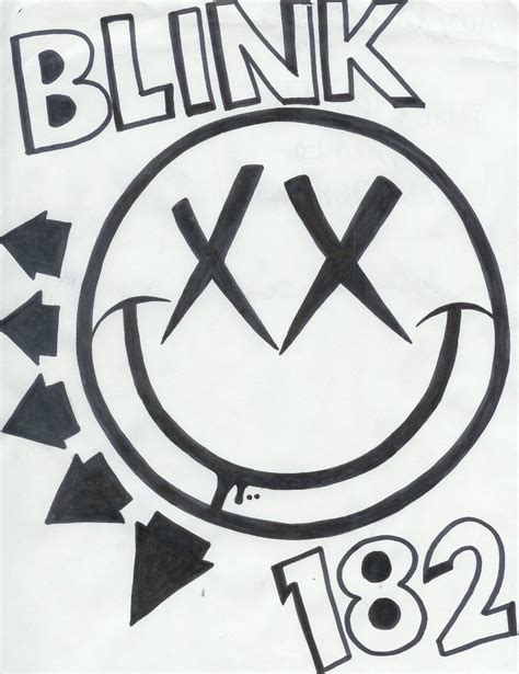 drawing blink 182 logo how to draw blink
