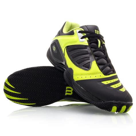 wilson shoes wilson trance vision ii mens tennis shoes black lime
