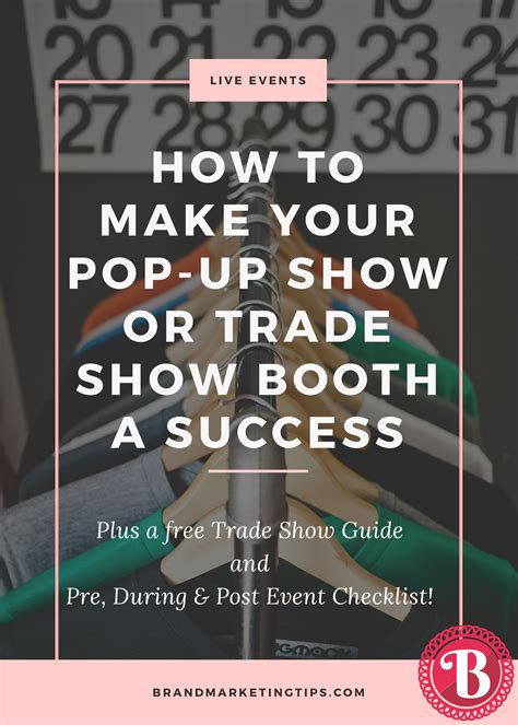 trade show checklist and marketing tips jyler how to make your pop up show or trade show booth a success
