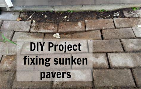 diy project fixing sunken brick pavers just me