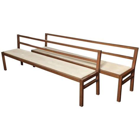 oak benches for sale pair of 20th century stained oak long benches for sale at